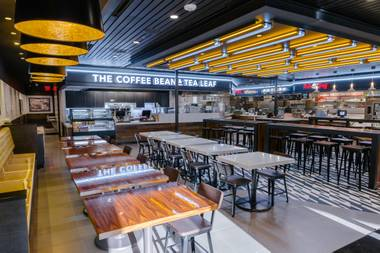 Coffee Bean & Tea Leaf is just one of eight new outlets at the Blvd Food Court.