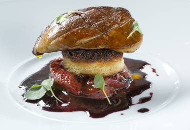 A twist on foie gras is just the beginning of indulgence at MB Steak.