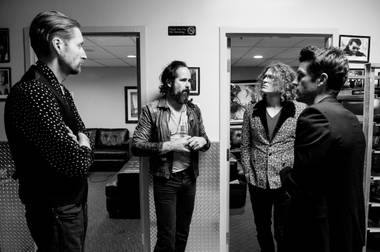 The Killers backstage at a Sam's Town anniversary show last year.