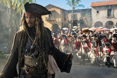 Johnny Depp stumbles and mumbles his way through Dead Men Tell No Tales.