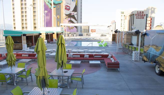 The Plaza's Palm Springs-inspired pool.