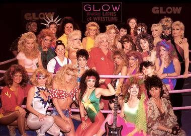 Cast members of G.L.O.W.: Gorgeous Ladies of Wrestling (1986-1990).