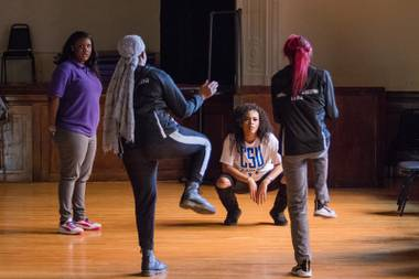 The subject is the step-dance team at the Baltimore Leadership School for Young Women, an inner-city charter school dedicated to sending every one of its students to college.