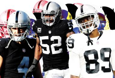 (Left to right) Carr, Mack and Cooper aim to lead the Raiders back into the playoffs.