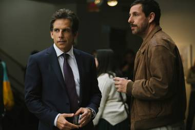 Adam Sandler and Ben Stiller play brothers who've been messed up in different ways by their overbearing, narcissistic father (Dustin Hoffman).