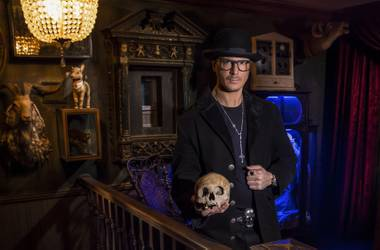 The imposing star of Travel Channel's Ghost Adventures led us on a tour of his personal masterpiece.