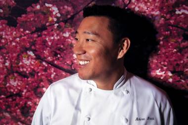He came to town to run Yellowtail at Bellagio in 2008 and also maintains Kumi at Mandalay Bay.