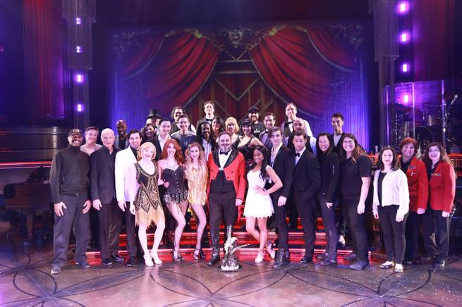 The cast of Baz: A Musical Mash-Up recently celebrated its 400th show at the Palazzo Theatre.