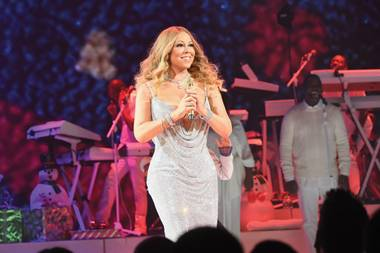 Mariah Carey finishes her Christmas shows at the Colosseum this weekend.
