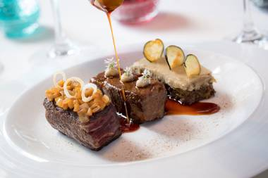 Innovative flavors and precise presentation are on the menu at Caesars Palace's Restaurant Guy Savoy.