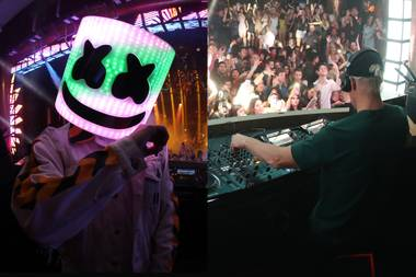 Marshmello plays XS December 29 and Intrigue December 31.