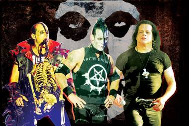 From left, Jerry Only, Doyle Wolfgang von Frankenstein and Glenn Danzig, together again.
