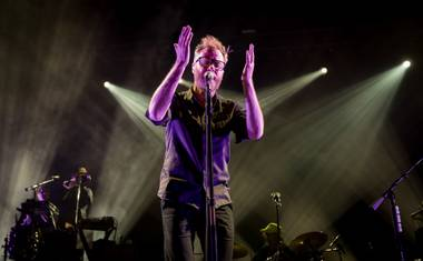 The National's Matt Berninger, performing Saturday at the Joint.
