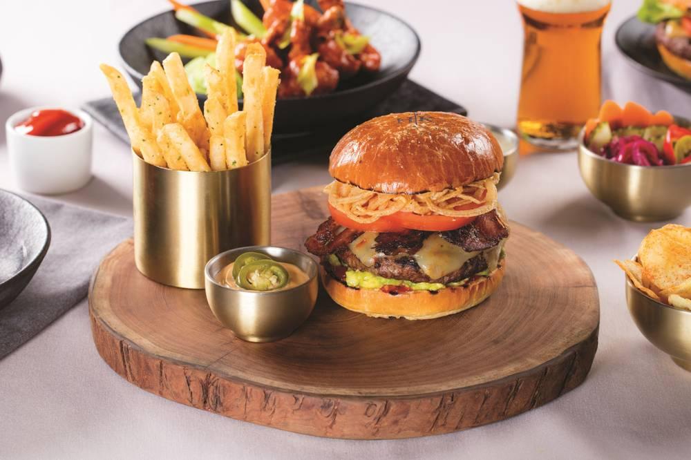 Three plates at Gordon Ramsays new Hells Kitchen restaurant Las