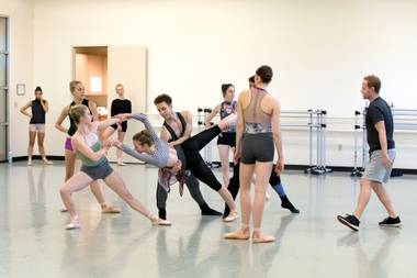 "NBT dancers rehearse ""Until December"" in preparation for this weekend's performances."