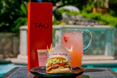 Tao's Buddha Beach Burger ranks among the best in Vegas.