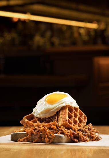 The Pig & The Waffle will fill you up.