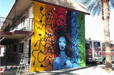From stickers to large walls, Izaac Zevalking is raising the consciousness of Las Vegas.