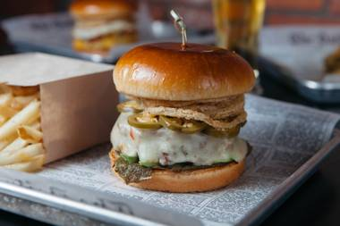 Unique burgers, handcrafted sauces and a good beer selection make this undercover bar a spot worth visiting.