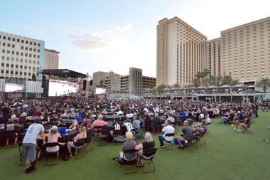 From guitar bands to Golden Knights watch parties, the Downtown outdoor venue hosts a wide variety of events.