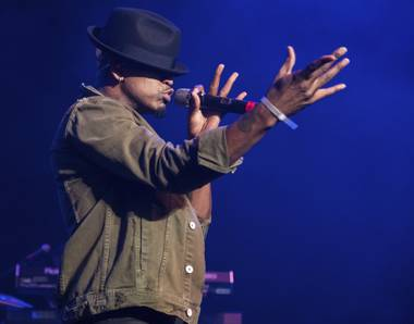 Ne-Yo performs at the Flamingo's Go Pool on August 4.