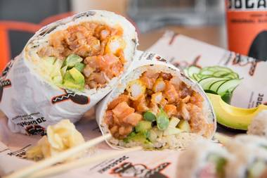 Jogasaki has been putting raw fish into its burritos since before you were born. Or something like that.
