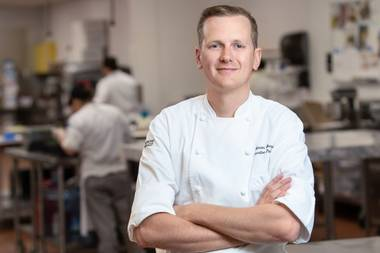 Chef Simon Bregadis, executive pastry chef at the Venetian and the Palazzo.