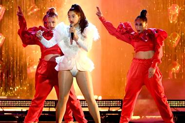 Last week in Las Vegas she won two Latin Grammys for the song, including Best Urban Fusion Performance.