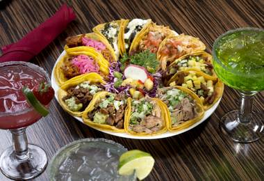 The booze offerings are generous, and the food menu short and sweet, including $3.50 street tacos with your choice of proteins.
