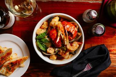 Casa di Amore's cioppino, Frank's Favorite at Pasta Shop and more.
