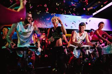 Alex Pall and Andrew Taggart pedaled along with everyone else, to a playlist curated by the Wynn Nightlife mainstays.
