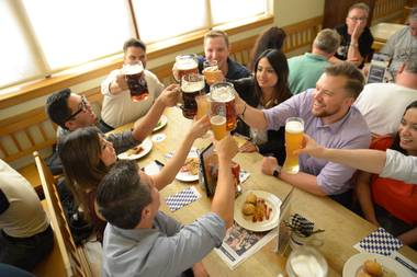 More than 3 million guests have visited the massive beer hall and restaurant, which has served more than 750,000 gallons of beer, 450,000 pounds of sausage, 135 tons of sauerkraut and 1.5 million pretzels.