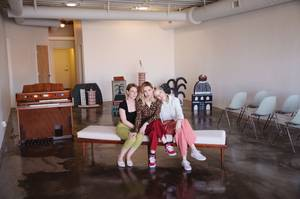 Amy Hybarger, Victoria Hogan and Holly Rae Vaughn inside their new space.
