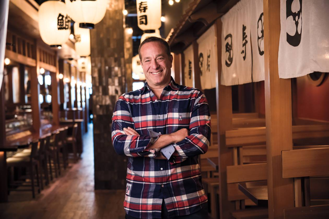 """If you've been to our original sushi place in New York, you know it's kind of an awkward space. But we like awkward spaces. The new one is also long and narrow and evokes that same feeling. It's funky."""