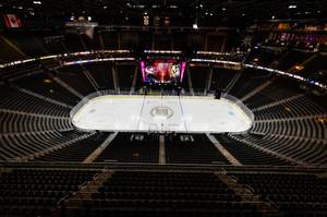 The scene prior to the start of the Golden Knights' game against Columbus, February 9 at T-Mobile Arena.
