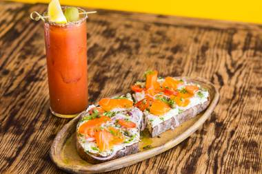 Time for smoked ocean trout toast and a Bloody Mary at Esther's Kitchen.