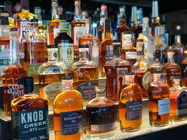 The extensive whiskey list is organized first by country of origin and then type. For example, you can try Nikka Taketsuru, a pure malt from Japan. The indecisive should opt for a themed whiskey flight.