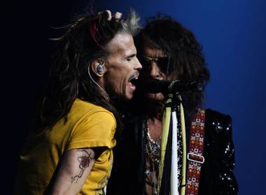 Aerosmith solidified its claim as one of the biggest rock bands in history with its late-'80s resurgence, skyrocketing the band into pop stardom for the next 30 years. On Saturday, April 6, the Bad Boys from Boston got back in the saddle, albeit a bit slowly, kicking off the grand opening of their Las Vegas Deuces Are Wild residency at Park MGM.
