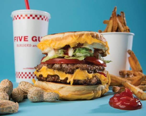 Five Guys' Double Grilled Cheeseburger (Christopher DeVargas / Staff)