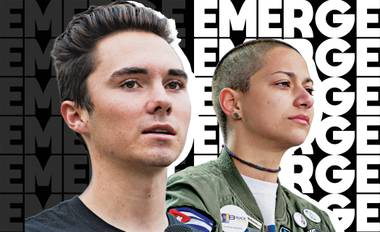 Hogg and Gonzalez will be at the Hard Rock Hotel in Las Vegas to speak at Emerge, an interdisciplinary festival that combines art, social justice and music.