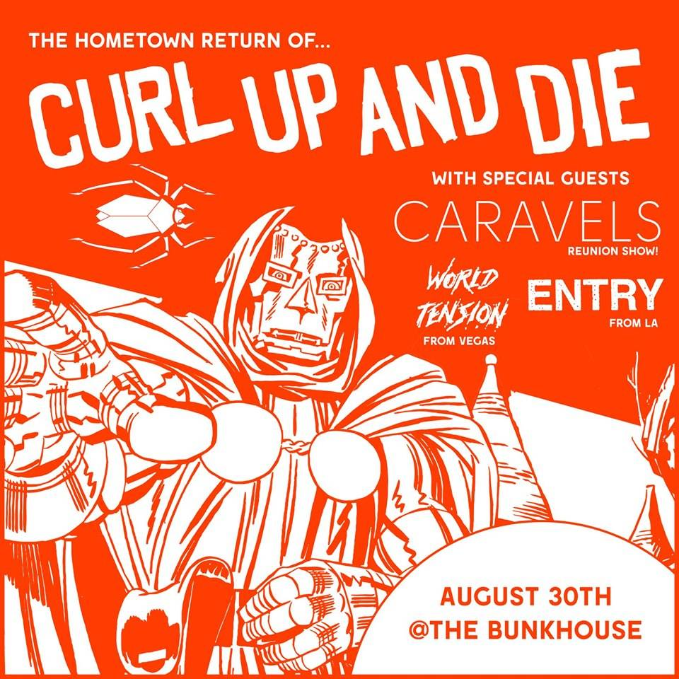 Curl Up and Die—featuring Mike Minnick on vocals, guitarist Matt Fuchs, bassist Ryan Hartery and drummer Keil Corcoran—played its first show since 2005 on June 22 at Anaheim's Chain Reaction.