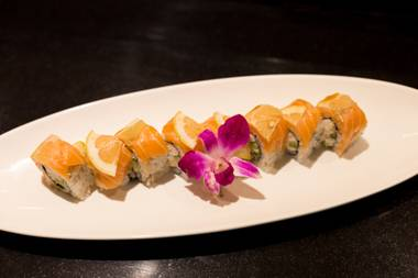 The Lemon Land roll is one of many highlight's on Rikki Tiki Sushi's new all-you-can-eat menu.