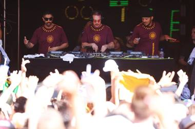 The new-look trio might tease tunes from the upcoming LP at Saturday's Encore Beach Club gig.