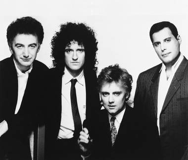 Queen, from left: John Deacon, Brian May, Roger Taylor and Freddie Mercury