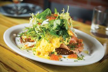 The former Sam's American, First Food & Bar and Rattlecan chef has delivered brunch and dinner dishes sure to please longtime fans and win new ones to his style of elevated comfort food.