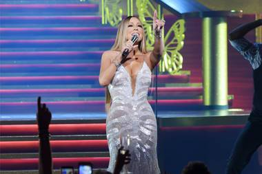 Elaborate decorations and special events always turn the Las Vegas Strip into a winter wonderland, but it's not really Christmas in Vegas until Mariah hits the stage.
