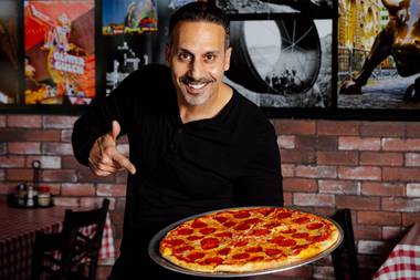 """'Saturday Night Fever', where John Travolta walked up to the window and grabbed two slices, that's where they all started. That's where they all learned how to make pizza,"" owner Frank Vento says."