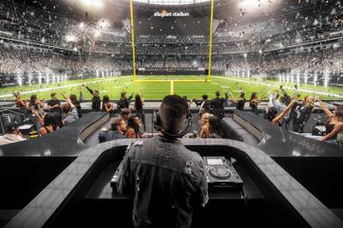 Expect Wynn DJs to perform during halftime at Las Vegas Raiders games.