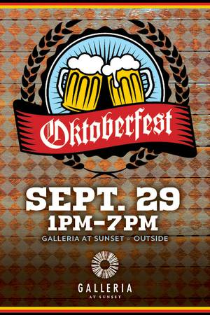 Enter to win tickets to Oktoberfest at Galleria at Sunset