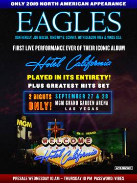 Win Tickets to the Eagles at MGM Grand Garden Arena - Las Vegas Weekly